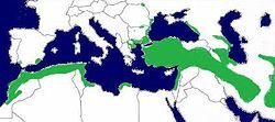 mapa distribucion tortuga griega