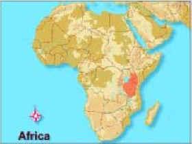 mapa de distribucion del trioceros melleri
