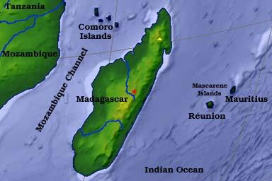 mapa distribucion camaleon de parson